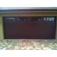 Haas Recessed Long Panel 8 Pane Garage Door